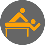 massage therapy service icon